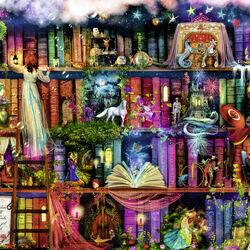Ravensburger Puzzle 1000 pezzi 19417 - La libreria delle fate, , large