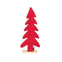 Albero di Natale in feltro rosso, , large