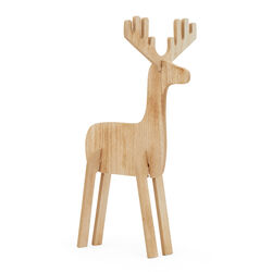 Renna in legno piccola, , large