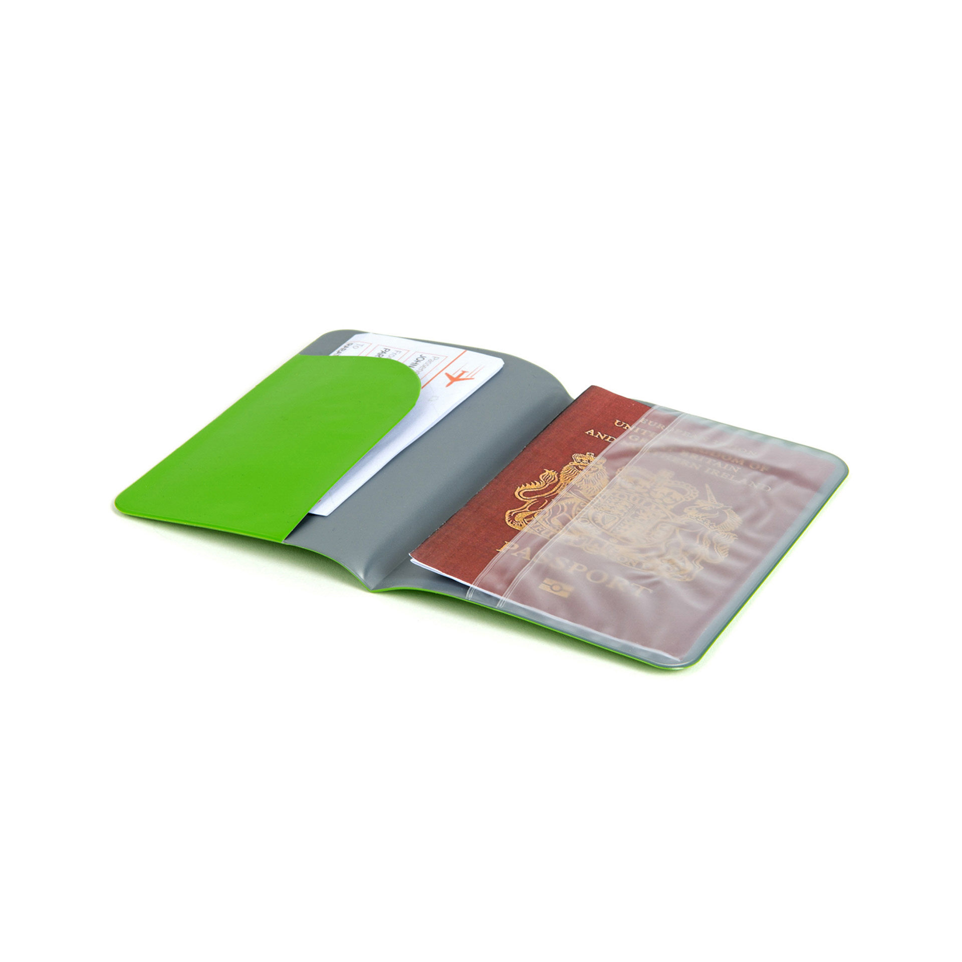 Petit porte-passeport - Vert brillant, vert, large