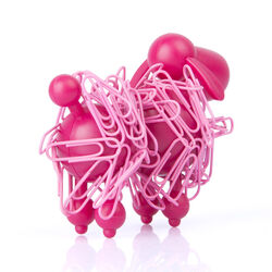 Barboncino magnetico con clip, , large