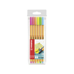 Fineliner - STABILO point 88 NEON - Astuccio da 6 pz assortiti, , large
