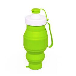 Bottiglia pieghevole in silicone 500 ml - colore verde, verde, large