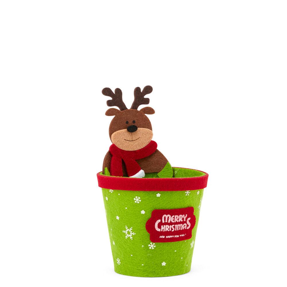 Porte pot de Noël en feutre, , large