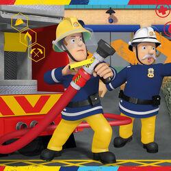 Ravensburger Puzzle 2x12 pezzi 07584 - Sam il pompiere, , large