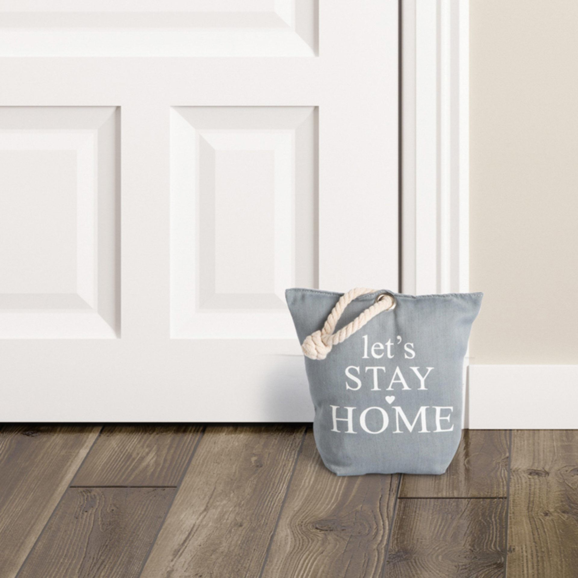 Cale-porte en tissu - Let's Stay Home, , large