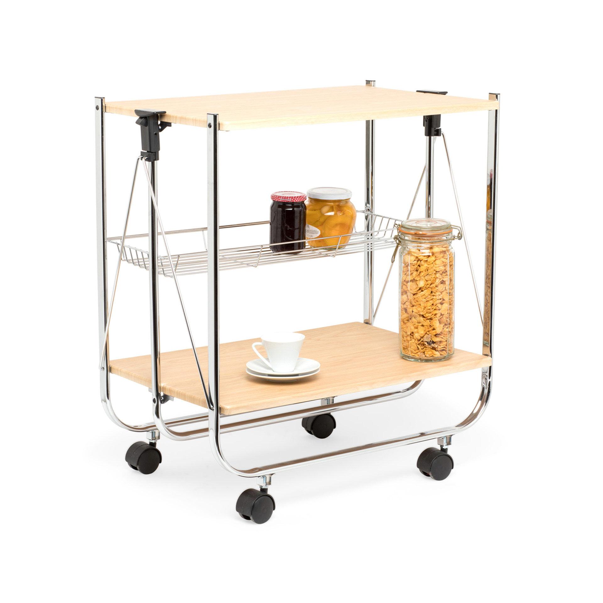 Chariot de cuisine pliable, , large