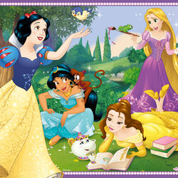 Ravensburger Puzzle 2x12 pezzi 07620 - Disney Princess, , large