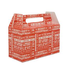 Scatola regalo natalizia colore rosso, rosso, large