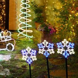 Fiocchi di neve luminosi da giardino, , large