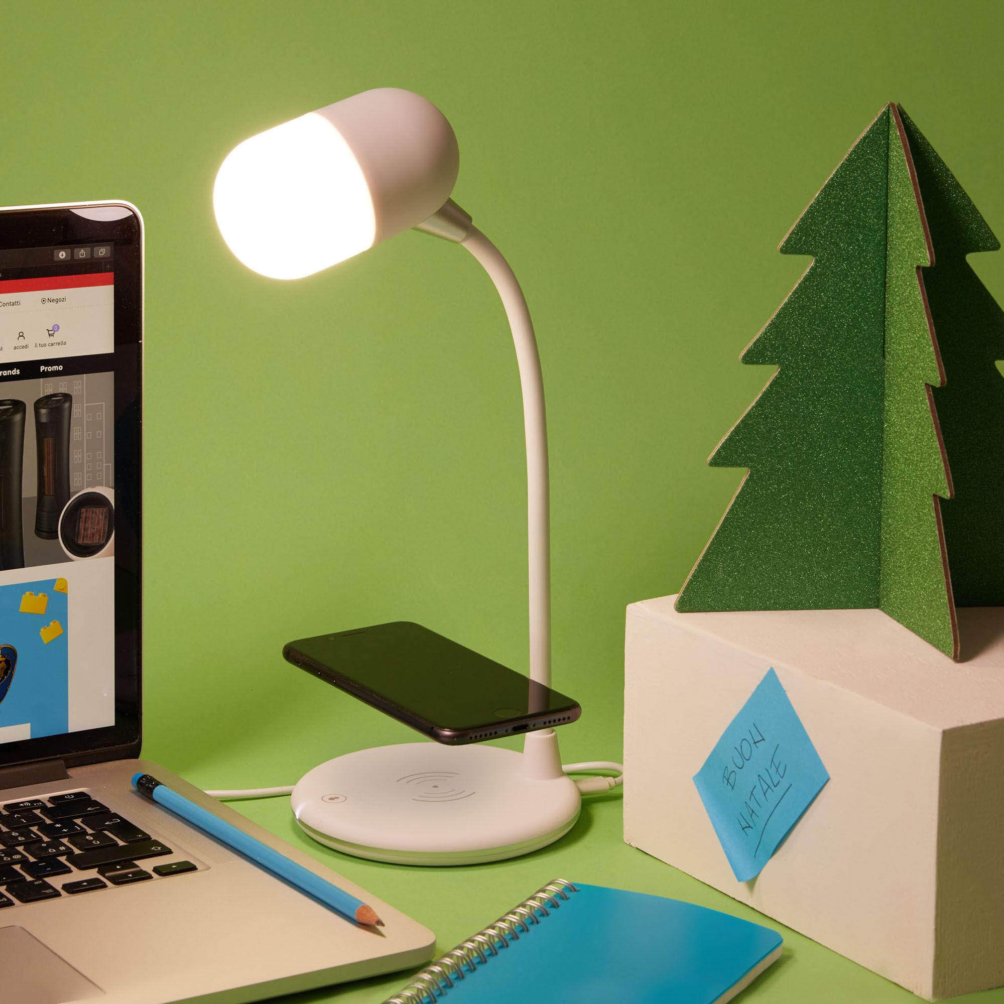 Lampe de table LED avec haut-parleur et chargeur sans fil, , large