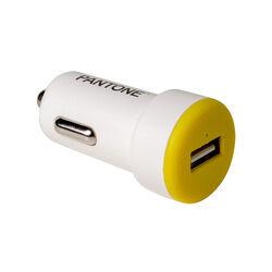 Caricabatteria auto USB 2.1A - colore Giallo, giallo, large