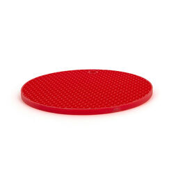 Sottopentola presina in silicone rosso, , large