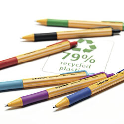 Penna a sfera Ecosostenibile - STABILO pointball - 79% Plastica Riciclata, , large