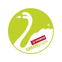 Matita in grafite Ecosostenibile- STABILO GREENgraphcon gommino certificata FSC, , large