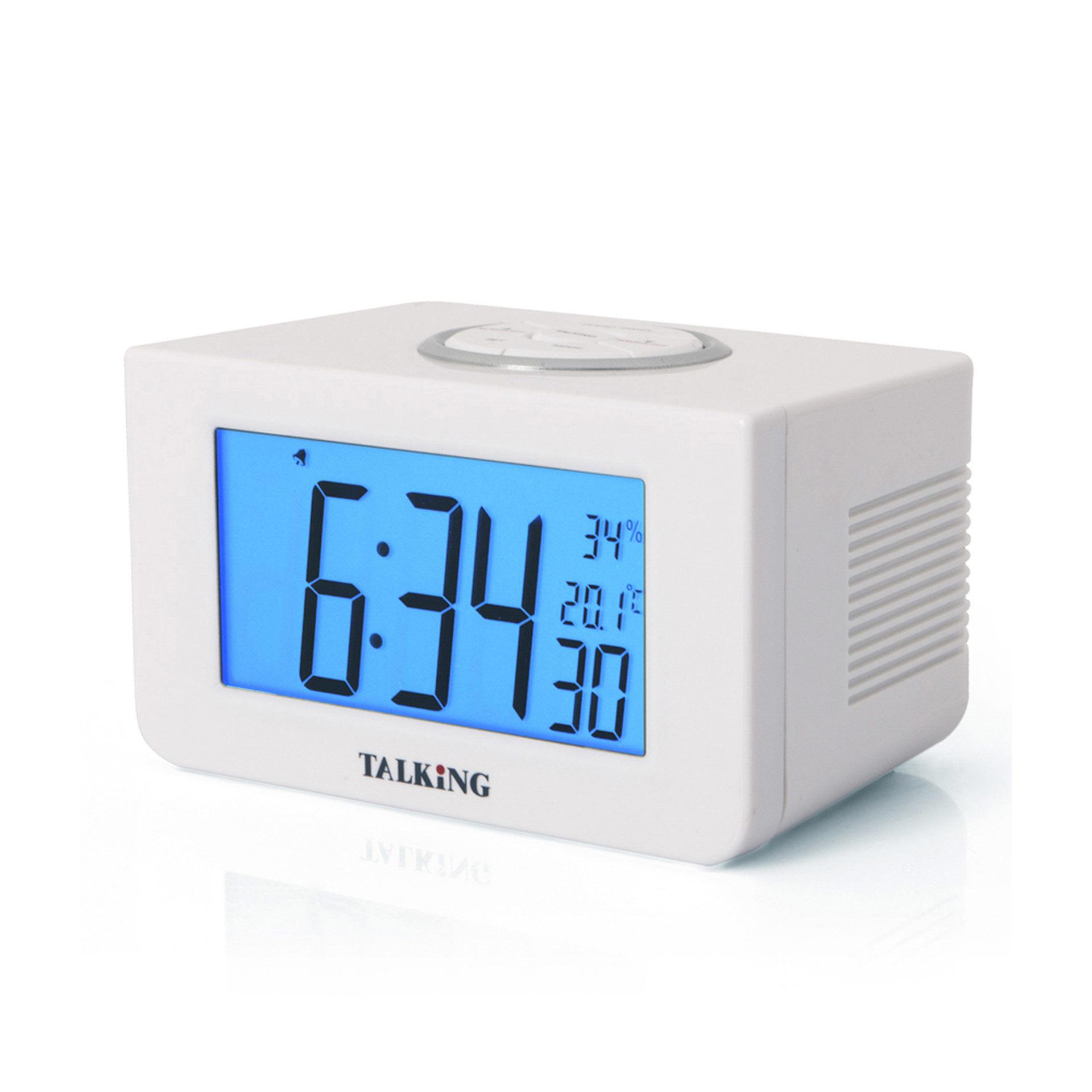 Réveil digital parlant avec thermomètre, , large