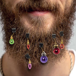 Decorazioni natalizie per barba set da 9 pz, , large