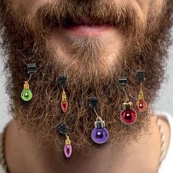Decorazioni natalizie per barba set da 9 pz, , large