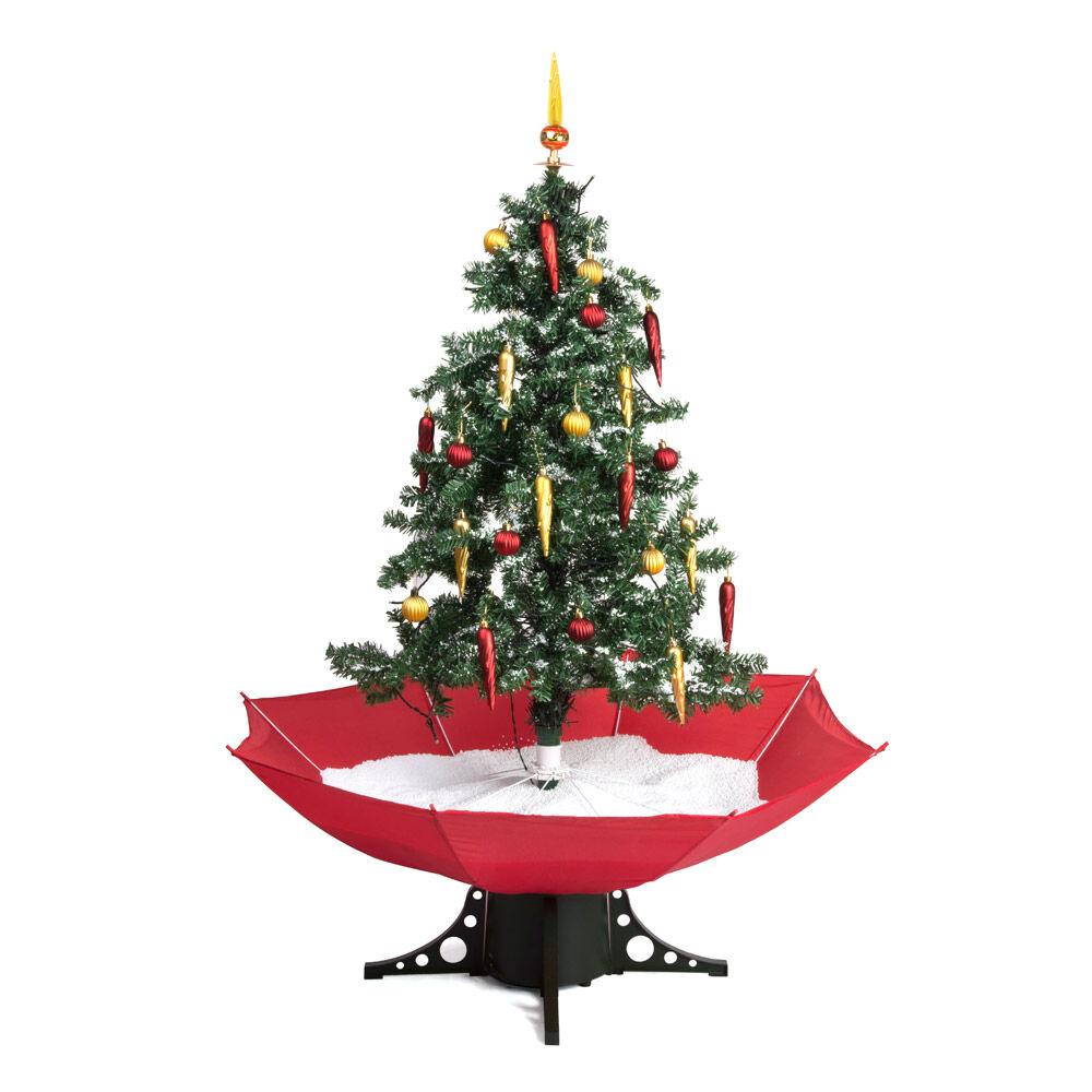 Sapin de Noël avec chute de neige, , large