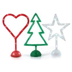 Decorazioni natalizie con led per la tavola, , large