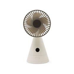 Ventilatore ricaricabile da tavolo con specchio, bianco, bianco, large