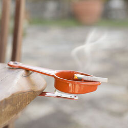 Posacenere con clip - colore arancio, arancione, large