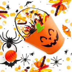 Cestino in feltro Halloween, , large