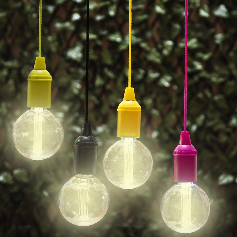 Lampe led lumière chaude avec cordon, , large