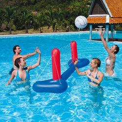Rete da pallavolo galleggiante con pallone, , large
