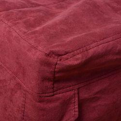 Copertura per pouf letto singolo colore Bordeaux, bordeaux, large
