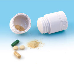 Contenitore per pillole con doppio scomparto, , large