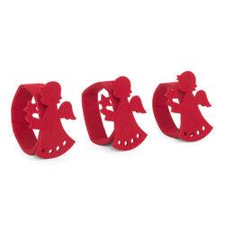 Portatovaglioli natalizi in feltro-  Set di 3 pz, , large
