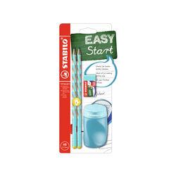 School Set STABILO EASYgraph S in Blu per Mancini con Gomma + Temperino, , large