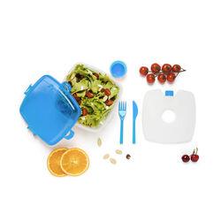 Contenitore lunch box per microonde - colore azzurro, azzurro, large
