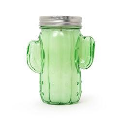 Vasetto in vetro cactus con candela profumata, , large