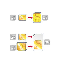 Kit adattatori sim card Celly, , large