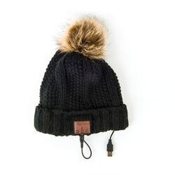 Cappello con auricolari Bluetooth e pompon, , large