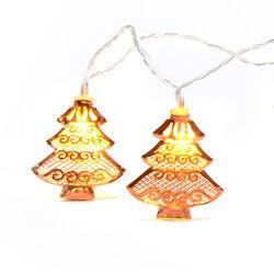Ghirlanda 10 LED con alberi di Natale, , large
