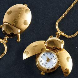 Collana/orologio a forma di scarabeo, , large