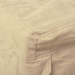 Copertura per pouf letto singolo colore Crema, crema, large