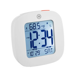 Sveglia compatta con temperatura e data, , large