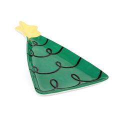 Piatto in ceramica albero di Natale, , large