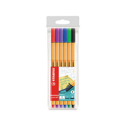 Fineliner - STABILO point 88 - Astuccio da 6 - Colori assortiti, , large
