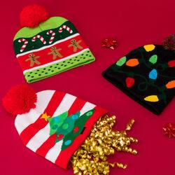 Cappello natalizio con LED, , large