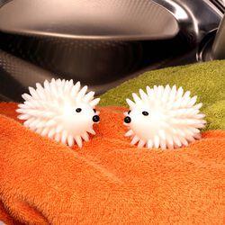Coppia di palline ammorbidenti a forma di riccio per asciugatrice, , large