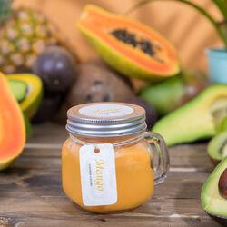 Candela in vasetto con manico - Piccola, profumo mango, , large