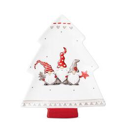Piatto in ceramica a forma di albero di Natale, , large