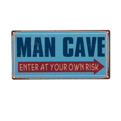 Targa vintage in metallo - Man cave, , large