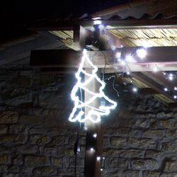 Decorazione luminosa da esterno a forma di albero di Natale, , large