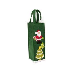 Borsa porta bottiglia natalizia, , large